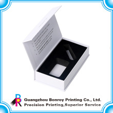 Luxury promotional handmade full color ribbon white box with custom logo