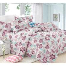 100% algodón flor al por mayor impresa tejido de dril de algodón para juegos de ropa de cama