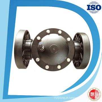 Válvula universal da maneira do preço de fábrica 2 da conexão da flange do material plástico de nylon