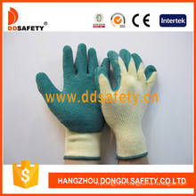 Cotton/Polyester Liner Crinkle Latex Gloves Dkl324