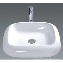 Luxury White Bathroom Ceramic Washing Basin (045)