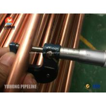 Tubo de cobre sem emenda JIS H3300 C1220T 1 / 2H para o permutador de calor