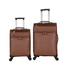 spinner wheel ladies luxury sculpture front pu luggage