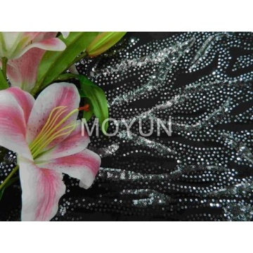 Broderie de sequin noir Fashion