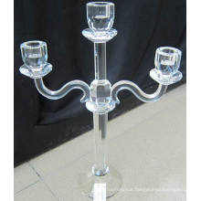 Crystal Candle Holder with Three Posters