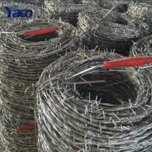 Vendas quentes 200 m 400 m de imersão a quente galvanizado, rolo de arame farpado de aço inoxidável