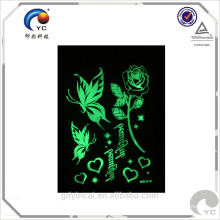 New idea glow dark stickers tattoo with low price