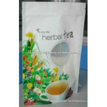 embalaje de bebidas, bolsa de té de flor de pie, paquete de jugo