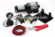 atv/utv winch with synthetic rope