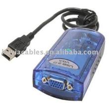 USB 2.0 a la tarjeta video del adaptador del adaptador del VGA para la computadora