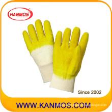 Amarillo Guantes de trabajo resistentes al corte de goma resistente al trabajo (52001)