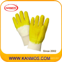 Yellow Industrial Safety Cut Resistant Rubber Coated Work Gloves (52001)