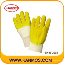 Gelb Industriesicherheits-Schnitt-beständige Gummi-beschichtete Arbeitshandschuhe (52001)