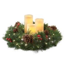 Decoración de oro de la vela de Navidad Wreath titular