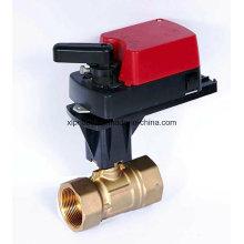 Vanne pneumatique actionnée par moteur électrique proportionnelle intégrale de robinet à tournant sphérique