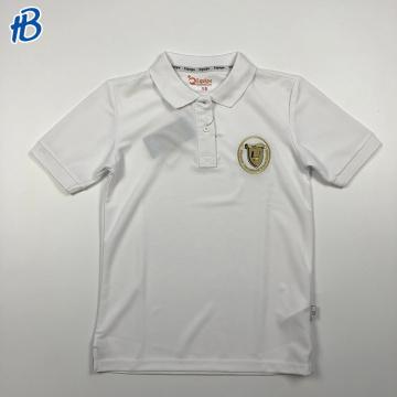 custom slim fit white campus sports shirts