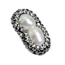 Lovely 2 perla perla forma perla pendiente accesorio joyas