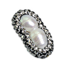 Lovely 2 Pearl Peanut Shape Pearl Pendant Accessory Jewelry