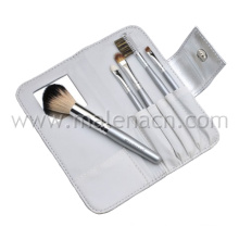 5PCS Portable Cosmetic Brushes with Mirror