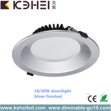 New Design Round Dimmable Downlight Silver 30W