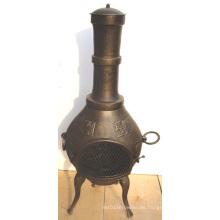 BBQ, Firepit Cast Iron Chiminea (FSL002) , Cast Iron Chimenea