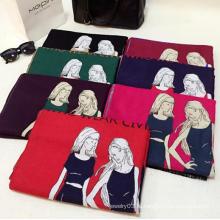 Зимний шарф для девочки