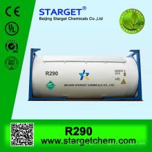 Haute pureté 99% de gaz réfrigérant / propane r290 à vendre