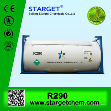 High purity 99% refrigerant gas /propane r290 for sale