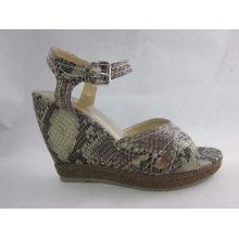 2016 nuevas sandalias de las mujeres del estilo de la cuña (HCY03-060)