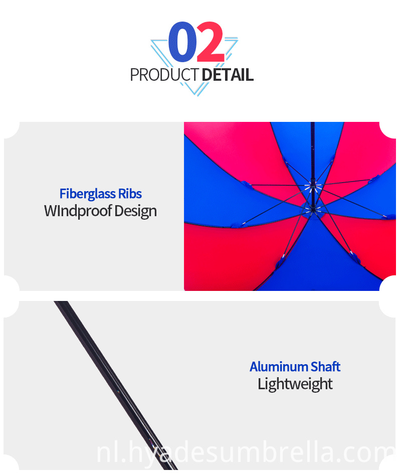 Windproof Promotional Manual Open Straight Umbrella