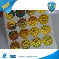 Anti-falsificação de papel holográfico Circular etiqueta adesivo