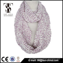 Fashion new design winter warm infinity sequin yarn scarf