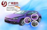 Purple 3d Carbon Fiber Vinyl Wrap For Car Interior With Air Free Size