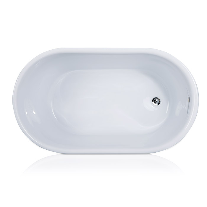 Deep Small Freestanding Bathtub for Small Bathroom
