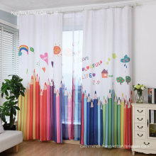Kids Curtains Pencil Print for Children