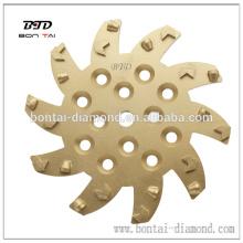 La plaque de meulage PCD 250 mm correspond aux machines de meulage Blastrac