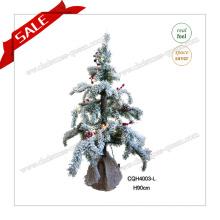 90cm Nova árvore de Natal de design com luz LED para decoração de casa