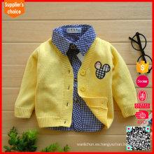 2017 nuevo patrón del suéter del knit del diseño de la manera del estilo para el bebé