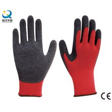 Рабочие перчатки с латексным покрытием, отделка морщин