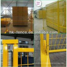 Le meilleur prix 6ft Canada couleur jaune clôture temporaire / conception de panneaux de clôture portables (fabrication) ISO9001
