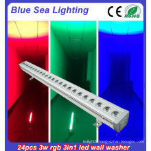 24x3w rgb 3in1 led wall washer light long-distance led flood light