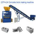 Precio semiautomático de la máquina de fabricación de ladrillos del cemento QTF4-24 en la India