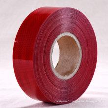 Fabriqué en Chine bande réfléchissante rouge pour la sécurité routière (C5700-OR)