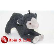 black plush lamb dog toy