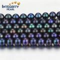 Chaîne de perles de haute qualité de forme ronde en perles taille 7-8mm de qualité AA Chaîne réelle de perles d'eau douce
