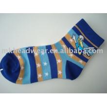 cute kids cotton jacquard knitted socks