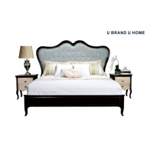 Luxury Bed Solid Wood Deisgn for Home Furniture