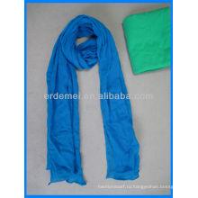 Длинный сплошной цветной шарф из хлопка оптом
