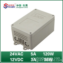 Power supply luar ruangan 24VAC 5A 12VDC 3A