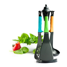 Kitchen Utensil set with carousel stand